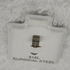 unbranded Jewelry - New 2 Stud lot - 316L Nose Bone Ring Stainless